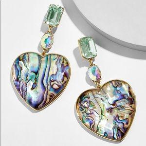 Amaya heart drop earrings. Abalone